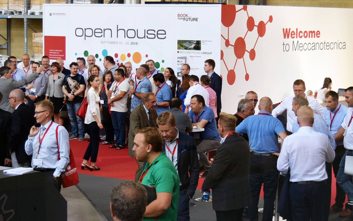 Meccanotecnica's Open House: visitors from all other the world