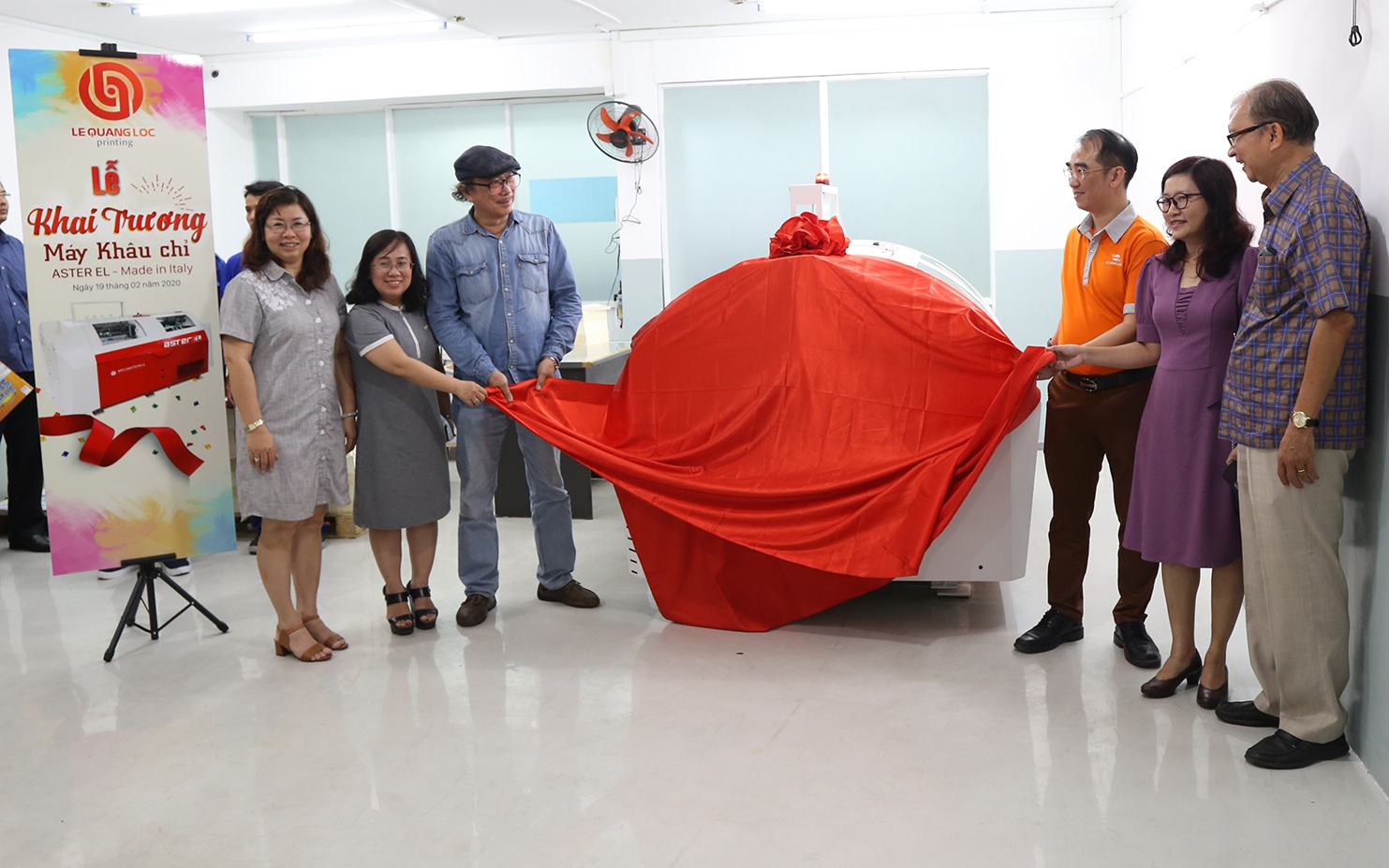 A new asterEL, book sewing machine, installed in Vietnam