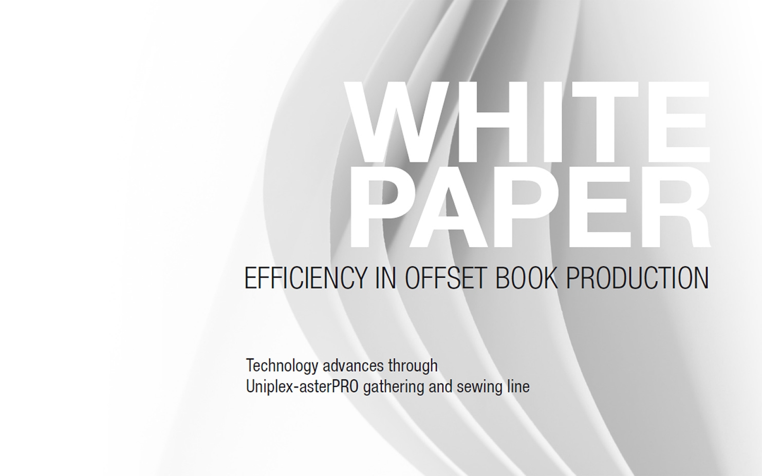 Efficiency in offset book production