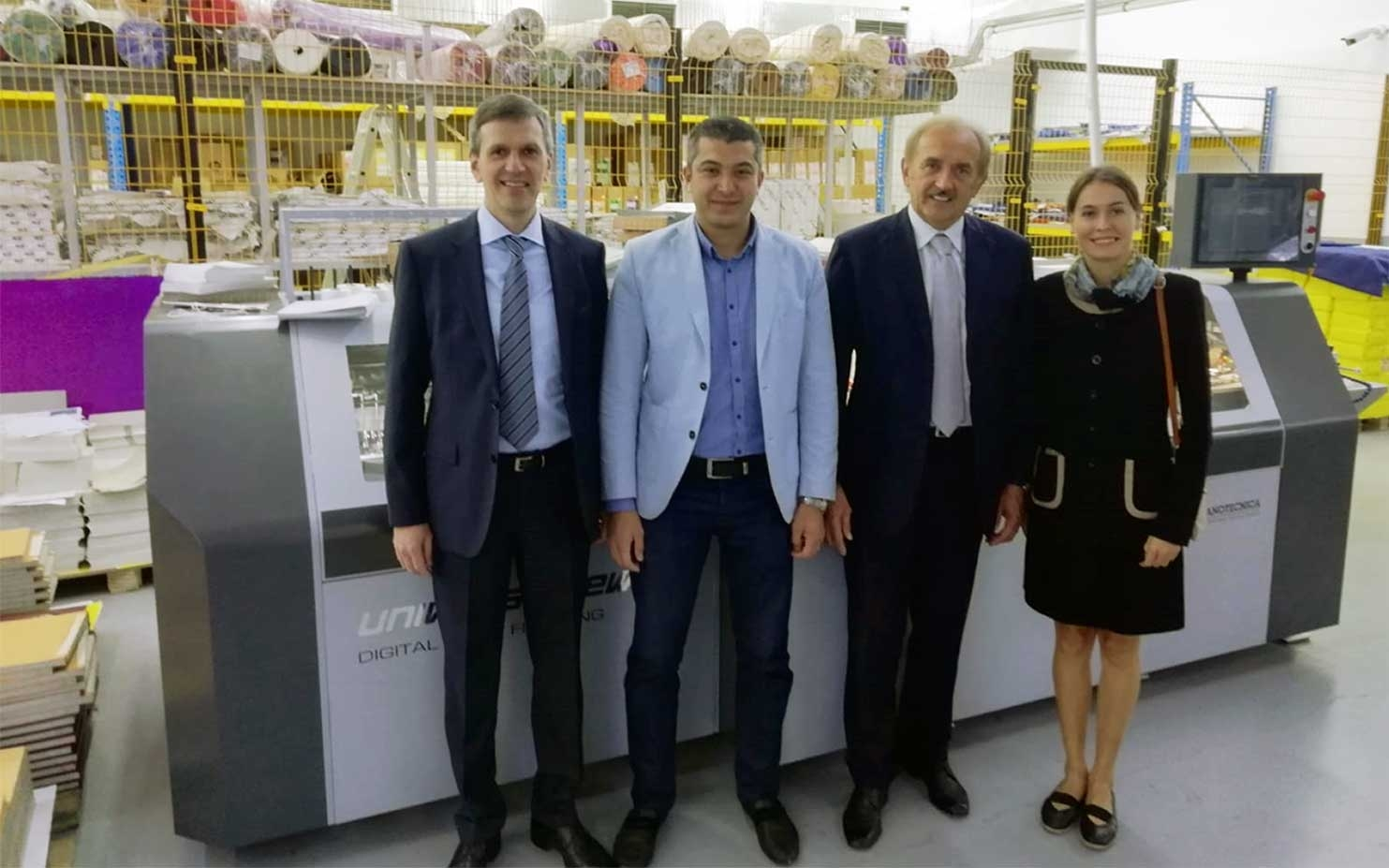 First Universe Sewing Sheet-fed installed in Uzbekistan